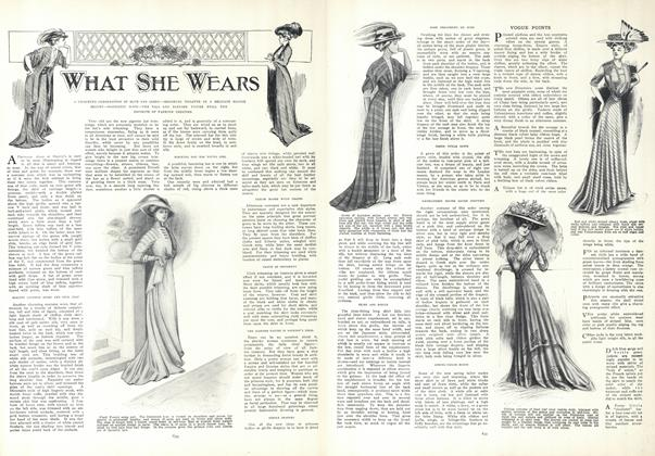 Article Preview: What She Wears, April 30 1908 | Vogue