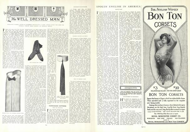 Article Preview: The Well Dressed Man, April 30 1908 | Vogue