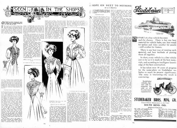 Article Preview: Europe on Next to Nothing, May 7 1908 | Vogue