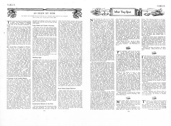 Article Preview: What They Read, May 7 1908 | Vogue