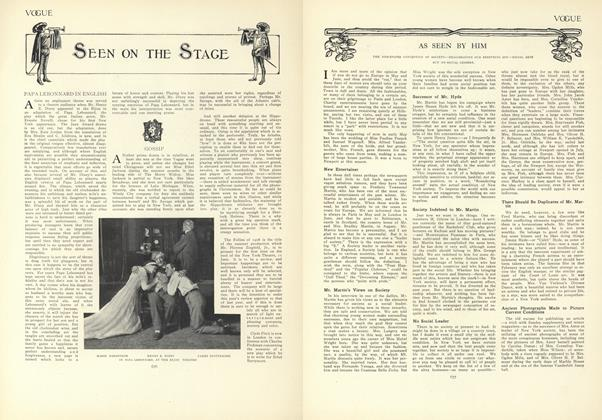Article Preview: As Seen by Him, May 14 1908 | Vogue