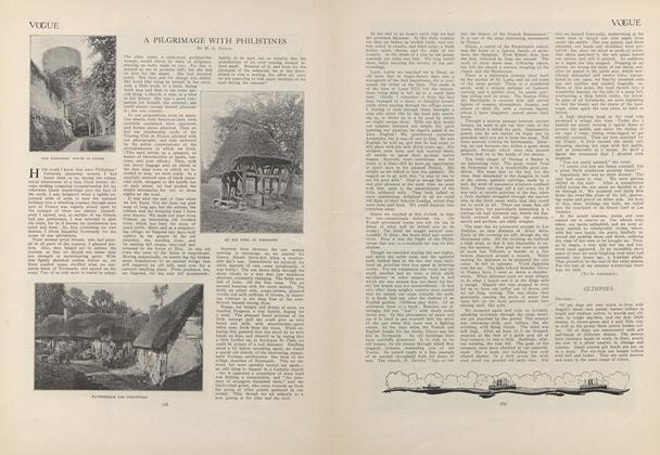 Article Preview: A Pilgrimage with Philistines, May 28 1908 | Vogue