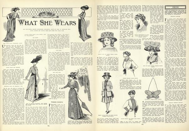 Article Preview: What She Wears, June 18 1908 | Vogue