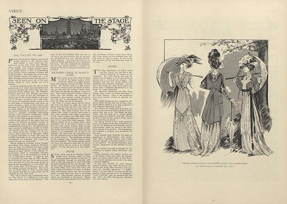 Article Preview: Seen on the Stage, July 2 1908 | Vogue