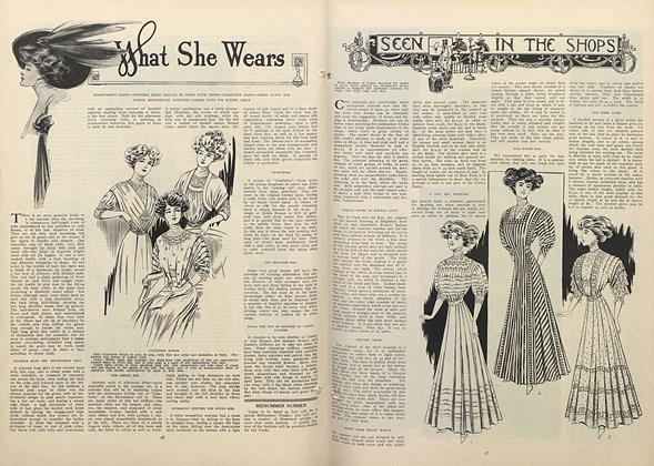 Article Preview: What She Wears, July 9 1908 | Vogue