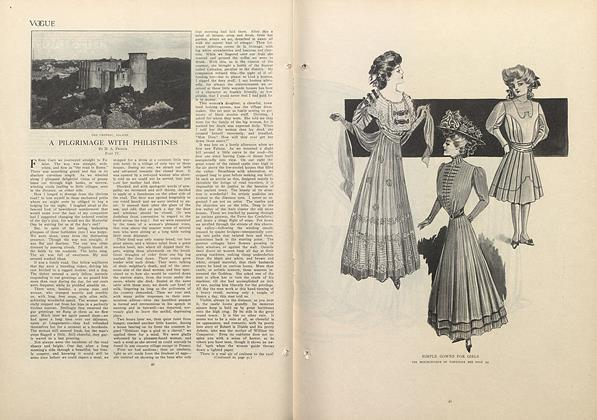 Article Preview: A Pilgrimage with Philistines: Part IV, July 9 1908 | Vogue