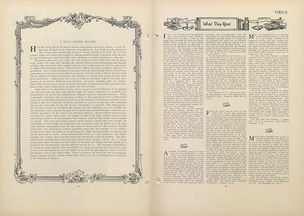Article Preview: What They Read, July 16 1908 | Vogue