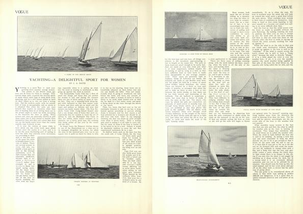 Article Preview: Yachting—A Delightful Sport for Women, July 23 1908 | Vogue