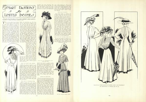 Article Preview: Smart Fashions for Limited Incomes, July 23 1908 | Vogue