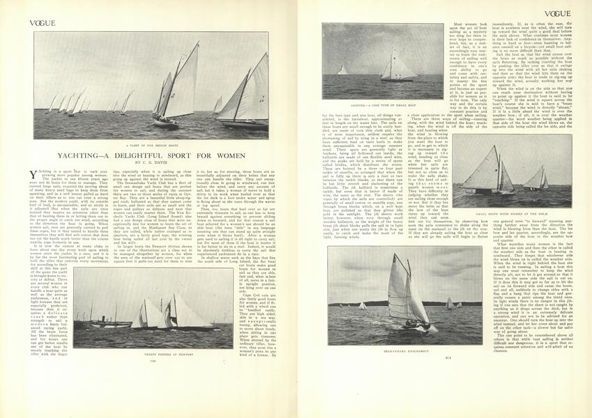 Yachting—A Delightful Sport for Women