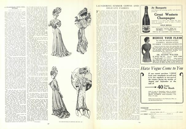 Article Preview: Laundering Summer Gowns and Delicate Fabrics, July 30 1908 | Vogue