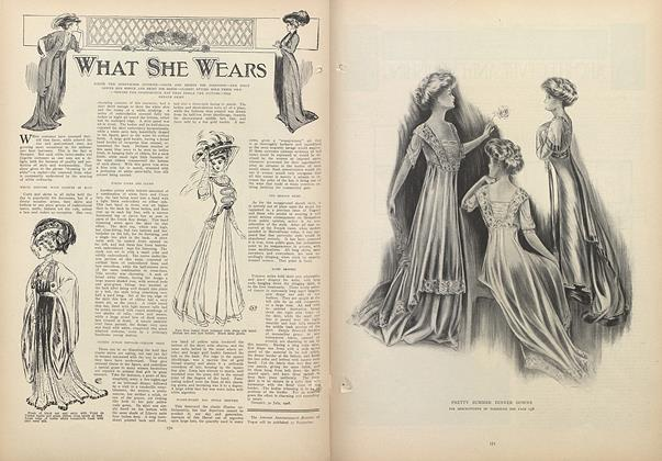 Article Preview: What She Wears, August 6 1908 | Vogue