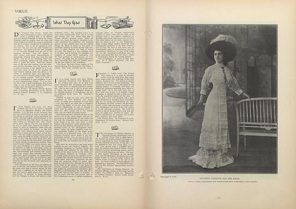 Article Preview: What They Read, August 6 1908 | Vogue