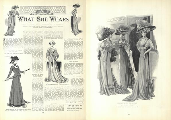 Article Preview: What She Wears, August 13 1908 | Vogue