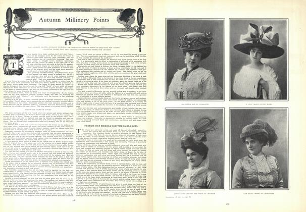 Article Preview: Autumn Millinery Points, August 20 1908 | Vogue