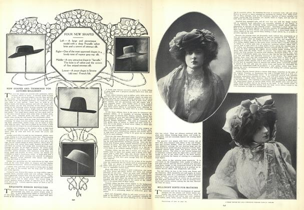 Article Preview: New Shapes and Trimmings for Autumn Millinery, August 20 1908 | Vogue