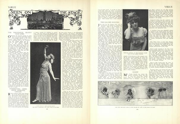 Article Preview: Seen on the Stage, August 20 1908 | Vogue