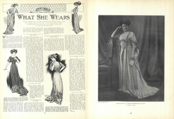 Article Preview: What She Wears, August 27 1908 | Vogue