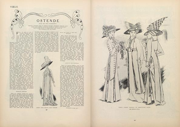 Article Preview: Ostende (From Our Own Correspondent), September 3 1908 | Vogue