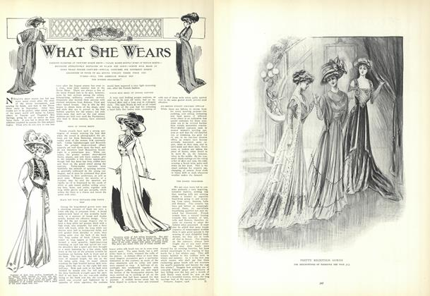Article Preview: What She Wears, September 10 1908 | Vogue
