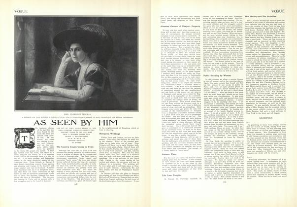 Article Preview: As Seen by Him, September 10 1908 | Vogue