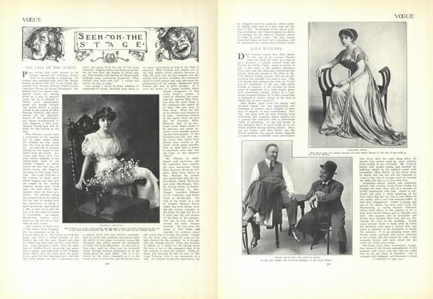 Article Preview: Seen on the Stage, September 10 1908 | Vogue