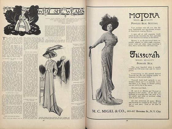 Article Preview: What She Wears, September 17 1908 | Vogue