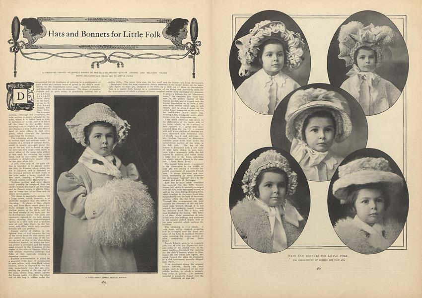Descriptions of Hats and Bonnets for Little Folk