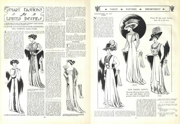 Article Preview: Smart Fashions for Limited Incomes, October 15 1908 | Vogue