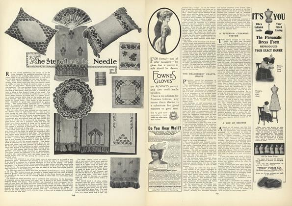 Article Preview: The Stencil and the Needle, October 22 1908 | Vogue