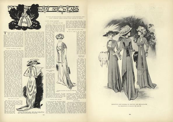 Article Preview: What She Wears, October 29 1908 | Vogue
