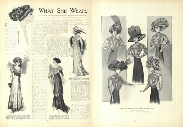 Article Preview: What She Wears, November 19 1908 | Vogue