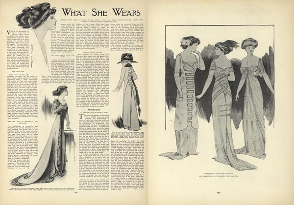 Article Preview: What She Wears, November 26 1908 | Vogue