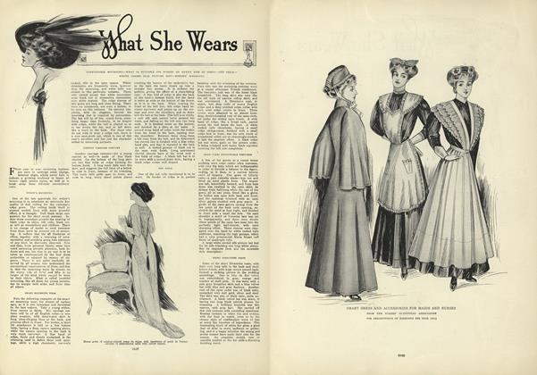 Article Preview: What She Wears, December 17 1908 | Vogue