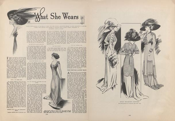 Article Preview: What She Wears, December 24 1908 | Vogue