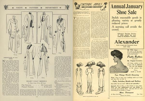 Article Preview: Concerning Animals, December 31 1908 | Vogue
