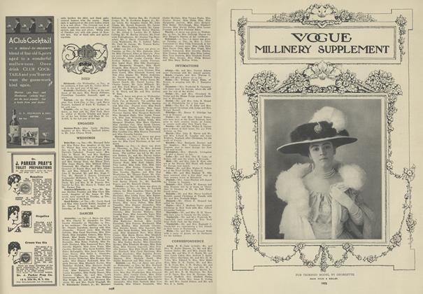 Article Preview: Society, December 31 1908 | Vogue