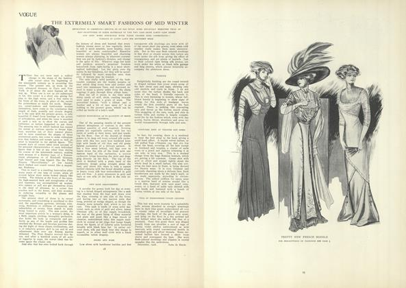 Article Preview: The Extremely Smart Fashions of Mid Winter, January 7 1909 | Vogue