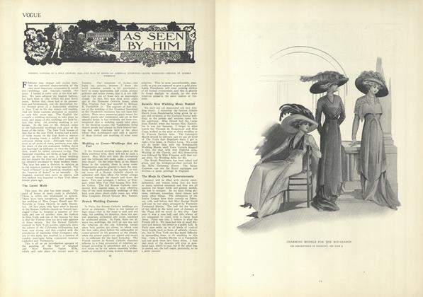 Article Preview: As Seen by Him, January 7 1909 | Vogue