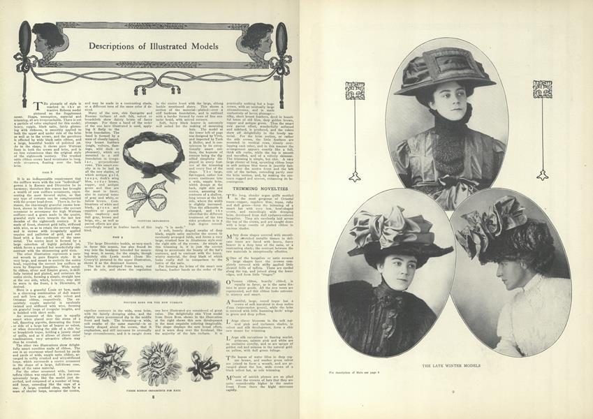 Descriptions of Illustrated Models
