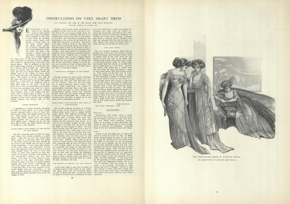 Article Preview: Observations On Very Smart Dress, January 14 1909 | Vogue