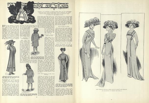 Article Preview: What She Wears, January 14 1909 | Vogue