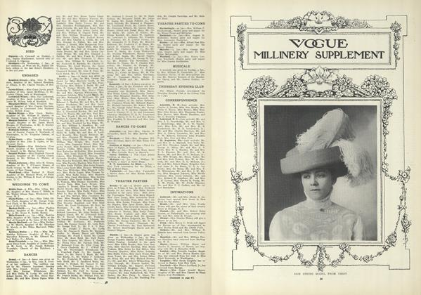 Article Preview: Society, January 14 1909 | Vogue