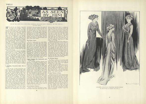 Article Preview: As Seen by Him, January 14 1909 | Vogue
