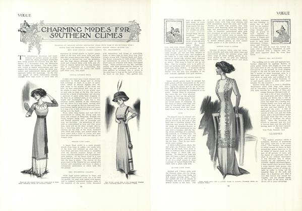Article Preview: Charming Modes for Southern Climes, January 21 1909 | Vogue