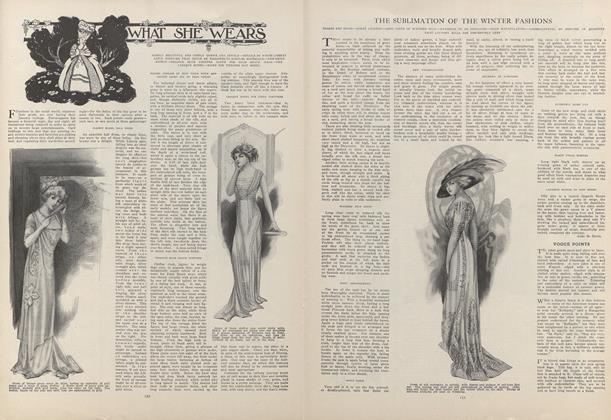 Article Preview: The Sublimation of the Winter's Fashions, January 28 1909 | Vogue