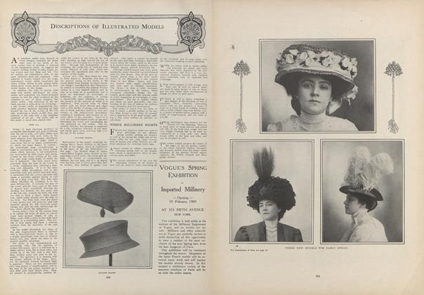 Article Preview: Descriptions of Illustrated Models, February 4 1909 | Vogue