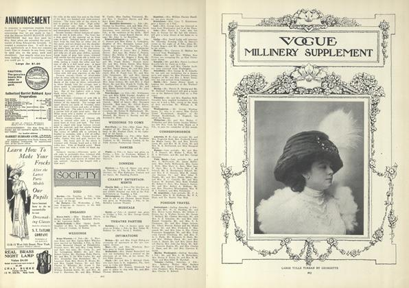 Article Preview: Society, February 11 1909 | Vogue