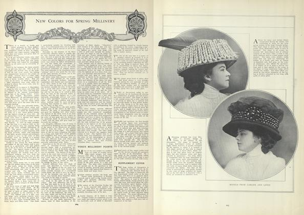 Article Preview: New Colors for Spring Millinery, February 11 1909 | Vogue