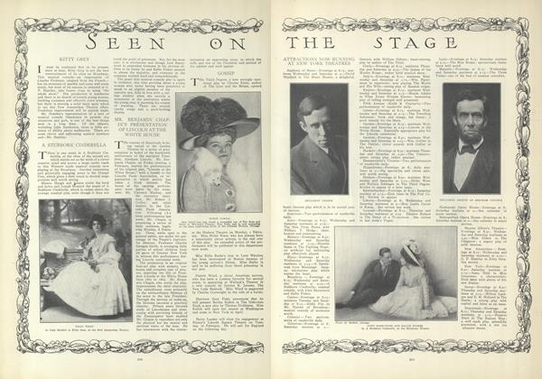 Article Preview: Seen on the Stage, February 11 1909 | Vogue